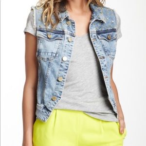 Romeo and Juliet Couture denim studded vest